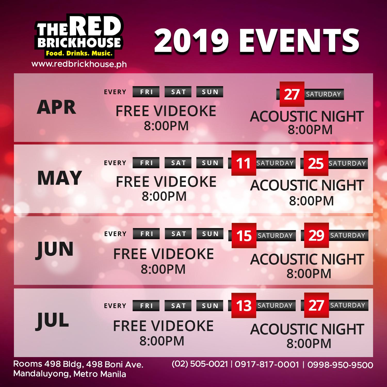 redbrickhouse acoustic schedule redbrickhouse.ph